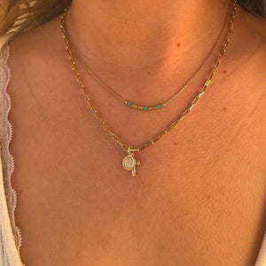 ❀ Tiny Religious Link Necklace