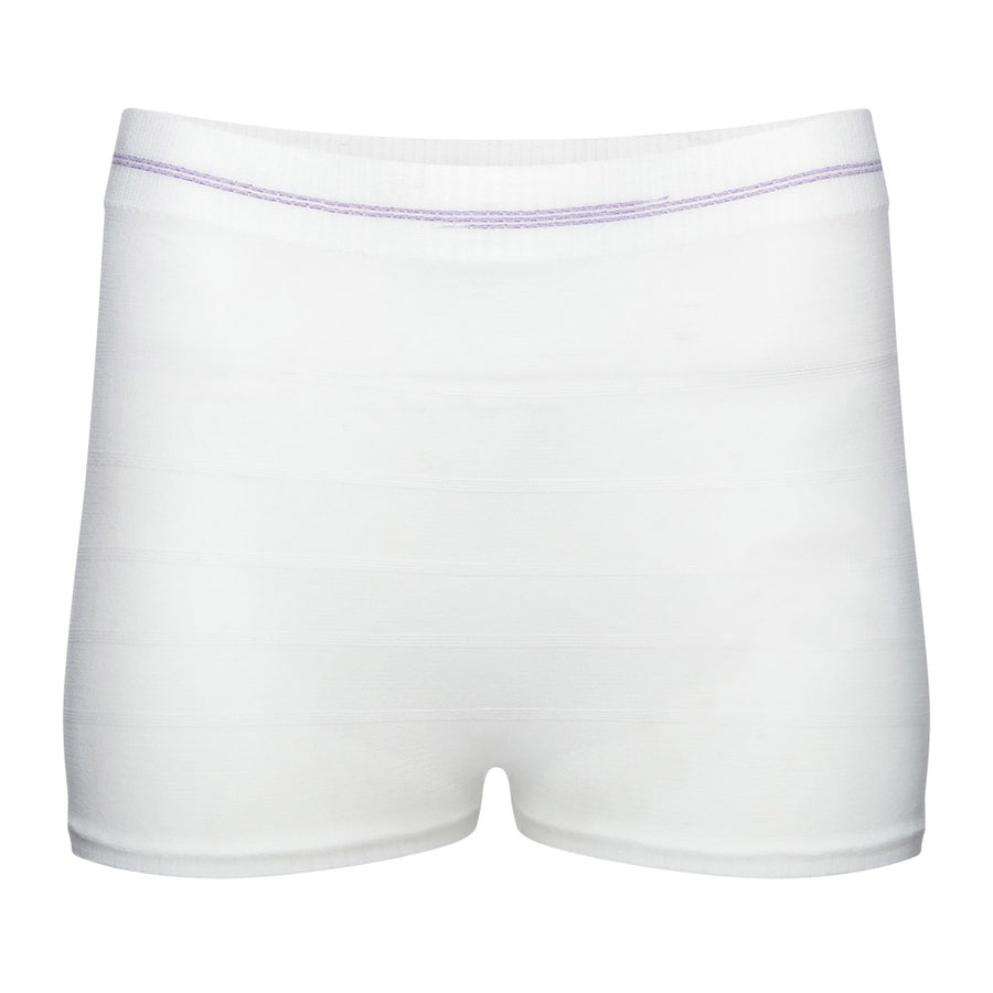 Disposable Postpartum Underwear: Women's Mesh Panties in White - Brief Transitions 5 Pack Combo