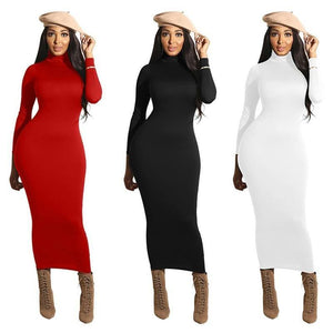 Turtleneck Work Dress-Women - Apparel - Dresses - Day to Night-MiKlahFashion