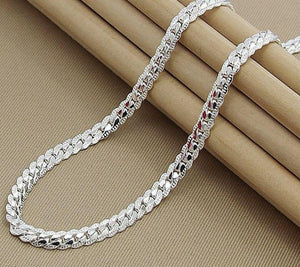 925 Sterling Silver Sideways Necklace