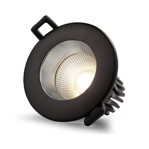 Downlight, 12W, COB, LED,Ultra low glare, 3CCT, Flicker free, Triac Dimmable, Black