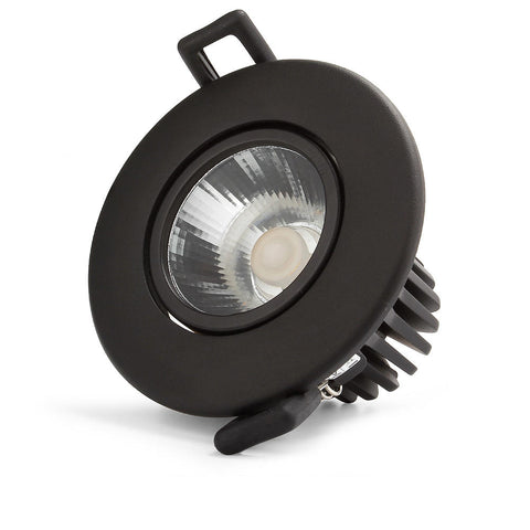 Downlight COB, 12W,IP54, adjustable angle,3 CCT, Flicker free, Triac Dimmable, Black
