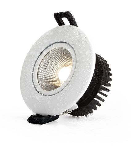 Downlight COB, 12W,IP54, adjustable angle,3 CCT, Flicker free, Triac Dimmable, White