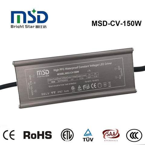 Power supply, 24VDC, 150W, IP67, flicker free, Constant Voltage driver
