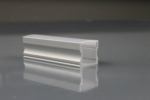 Aluminium Extrusion, profile for Strip light, Opal Diffuser, 2.5m length