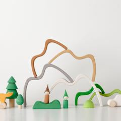 Wooden Mountain Stacker Small