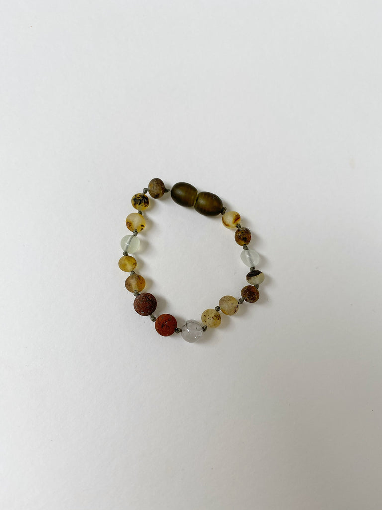 Raw Baltic Amber Bracelet | Moss