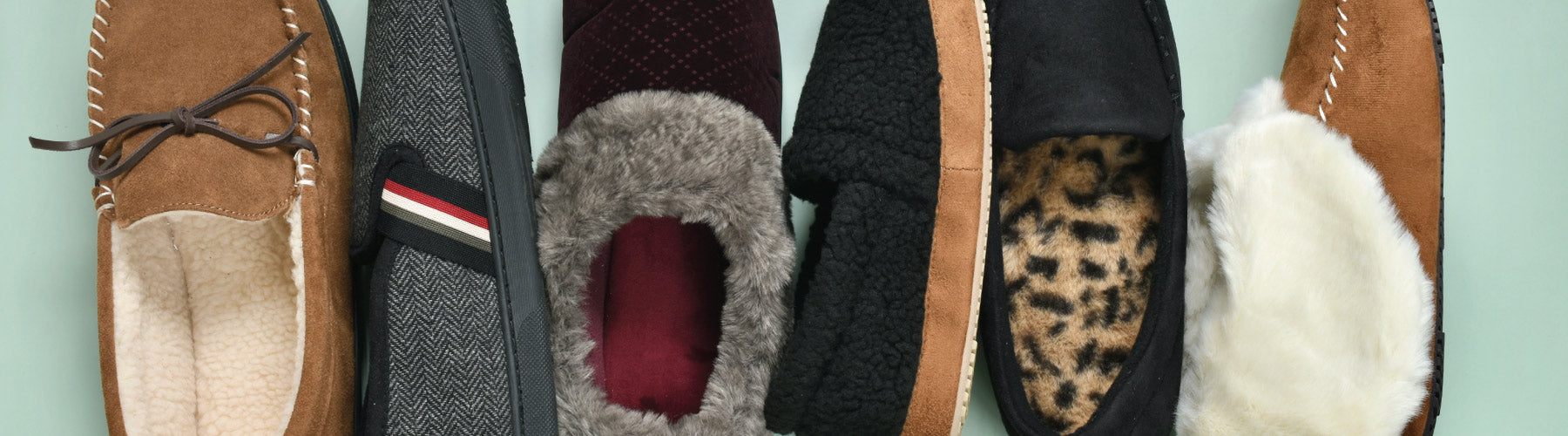 Flatlay of Men's and Women's New Arrival Slippers