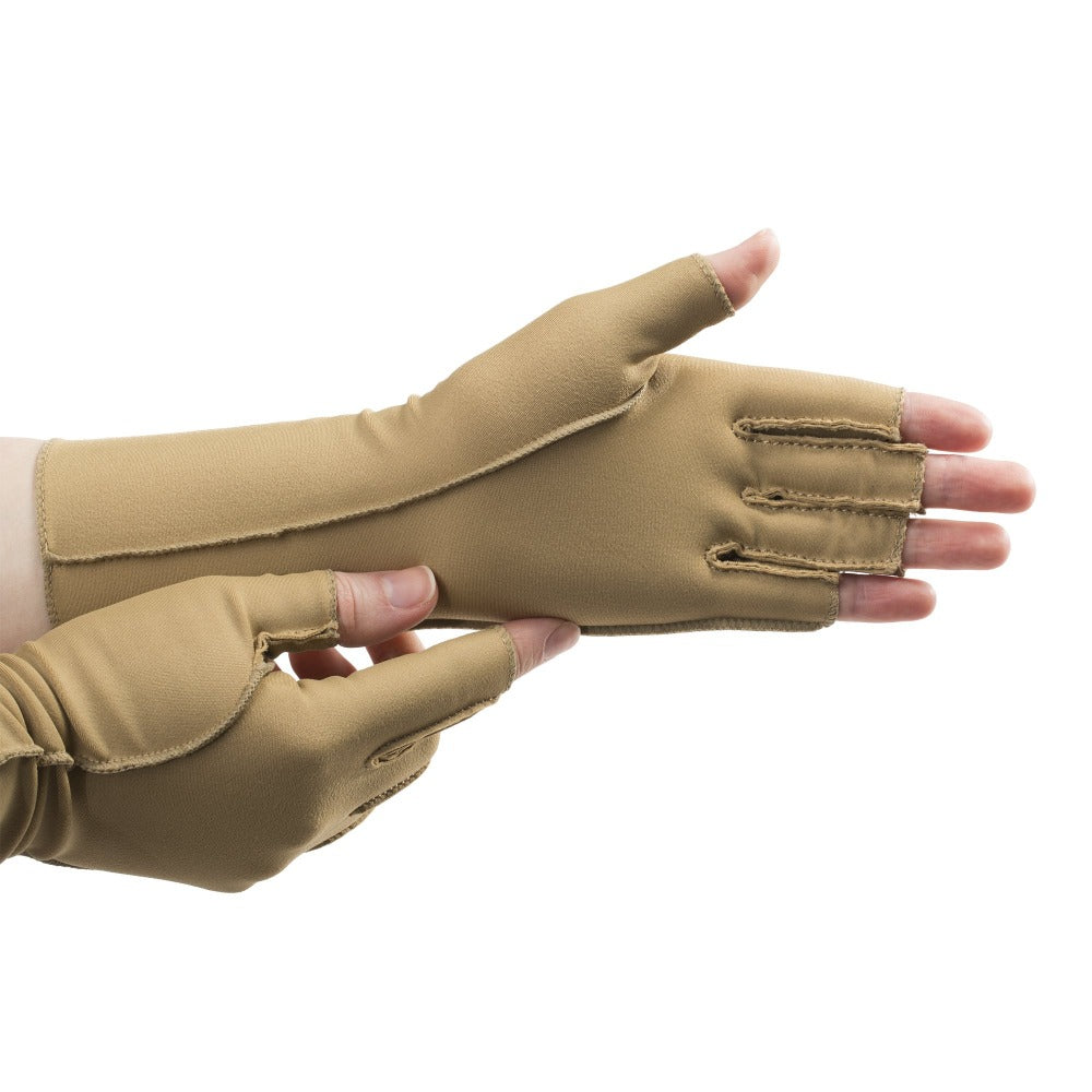 Fingerless Therapeutic Compression Gloves