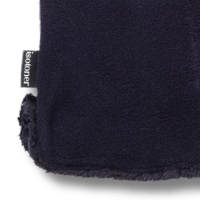 Women's Stretch Fleece Gloves in Midnight (Dark Navy) Close Up of Cuff