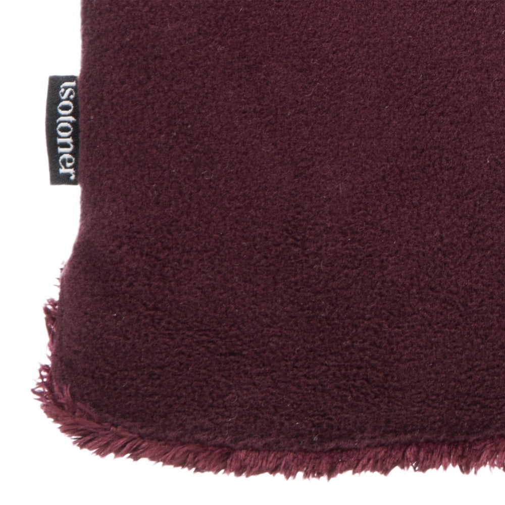 Women's Stretch Fleece Gloves in Plum Close Up of Cuff