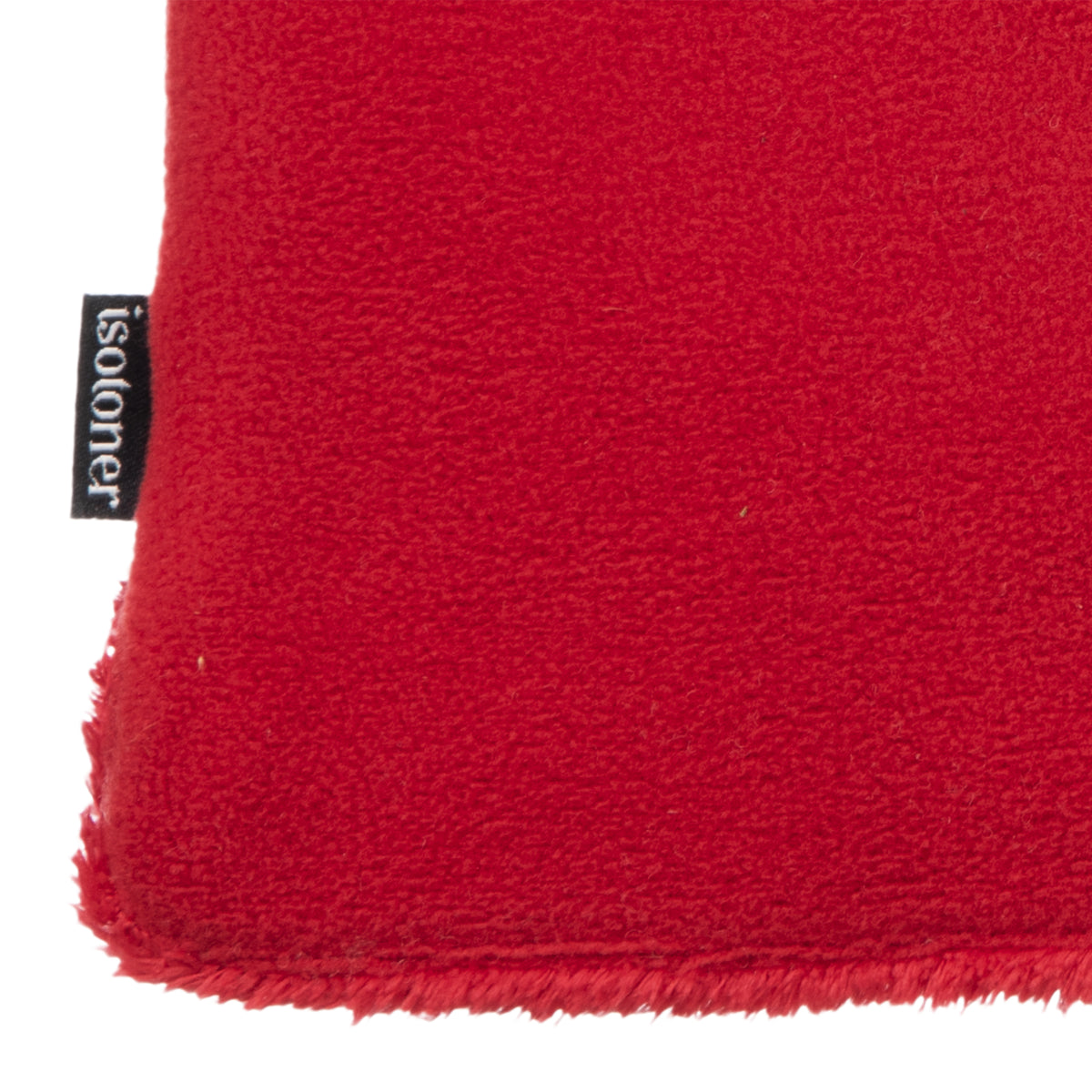 Women's Stretch Fleece Gloves in Really Red Close Up of Cuff