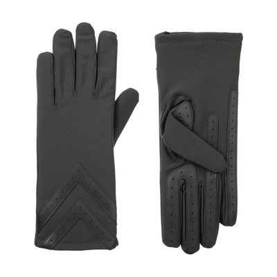Women's Heritage Chevron Spandex Gloves pair in Charcoal side by side