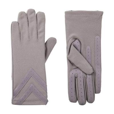 Women's Chevron Spandex Gloves Gloves in Dusty Lavender Front and Back