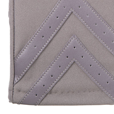 Women's Chevron Spandex Gloves Gloves in Dusty Lavender Chevron Cuff Detail