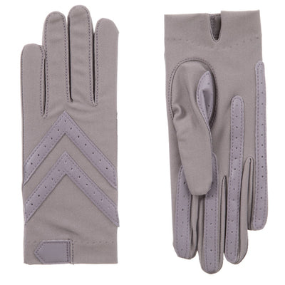 Women's Chevron Shortie Gloves in Dusty Lavender Front and Back