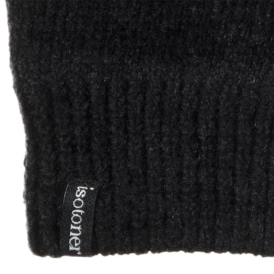 Women's Chenille Gloves with Ultraplush Lining in Black Cuff Detail
