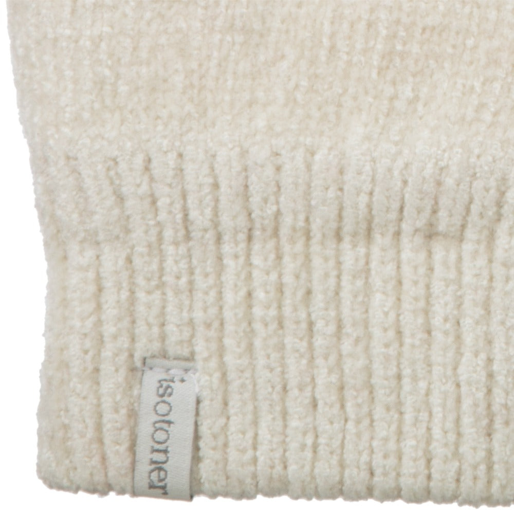Women's Chenille Gloves with Ultraplush Lining in Ivory Cuff Detail