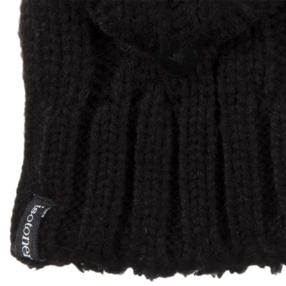 Women's Isotoner Chunky Cable Knit Flip-Top Mittens