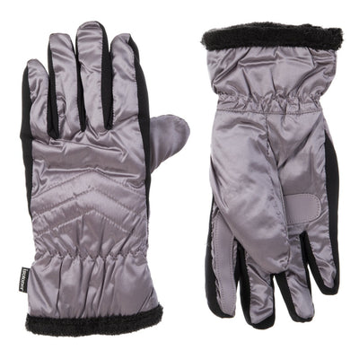 Women's Quilted Gloves with Double Lining in Dusty Lavender Front and Back