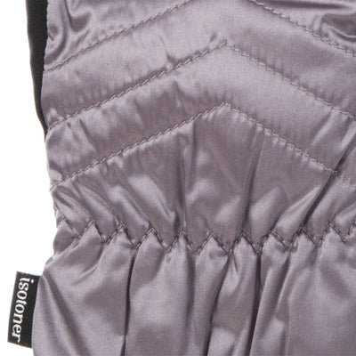 Women's Quilted Gloves with Double Lining in Dusty Lavender Cuff Details