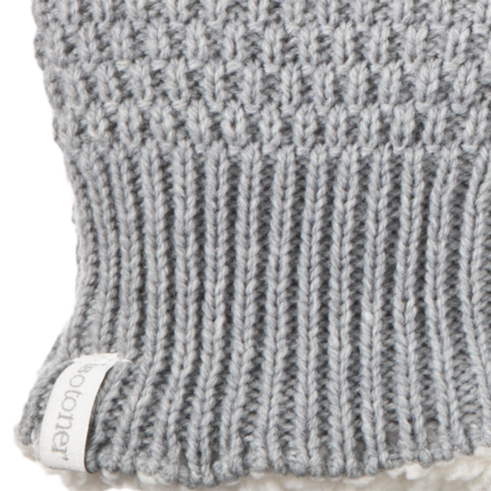 Women's Marled Knit Touchscreen Mittens in Heather (Grey) Cuff Detail