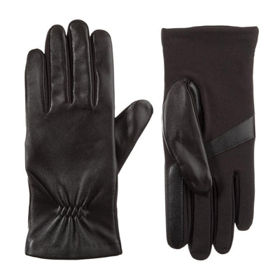 Women's Stretch Leather Touchscreen Gloves Black 2