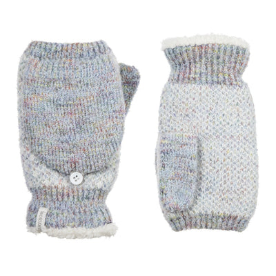Women's Recycled RPET Flip-Top Gloves in Frost (Grey) Front and Back