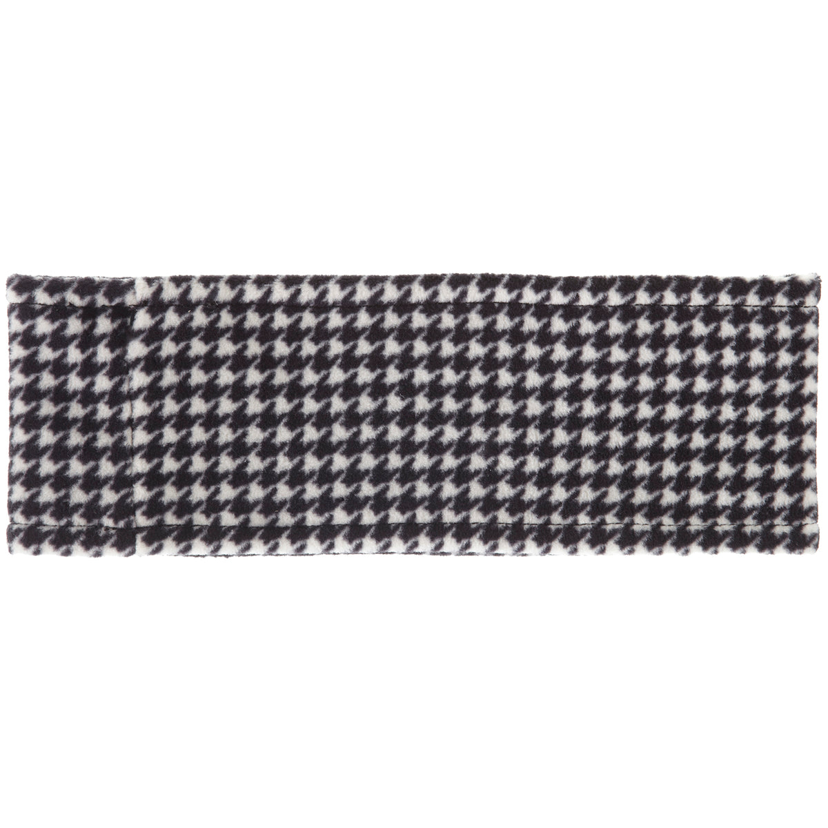 Women's Reversible Fleece Headband in Houndstooth