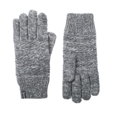 womens marled knit recycled gloves in gray