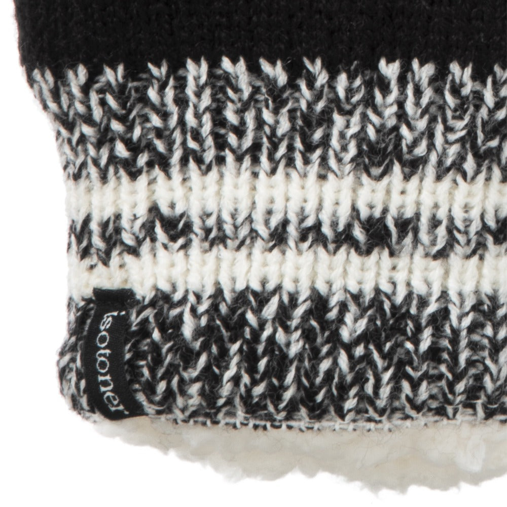 Women's Game Day Mittens Black Cuff Detail