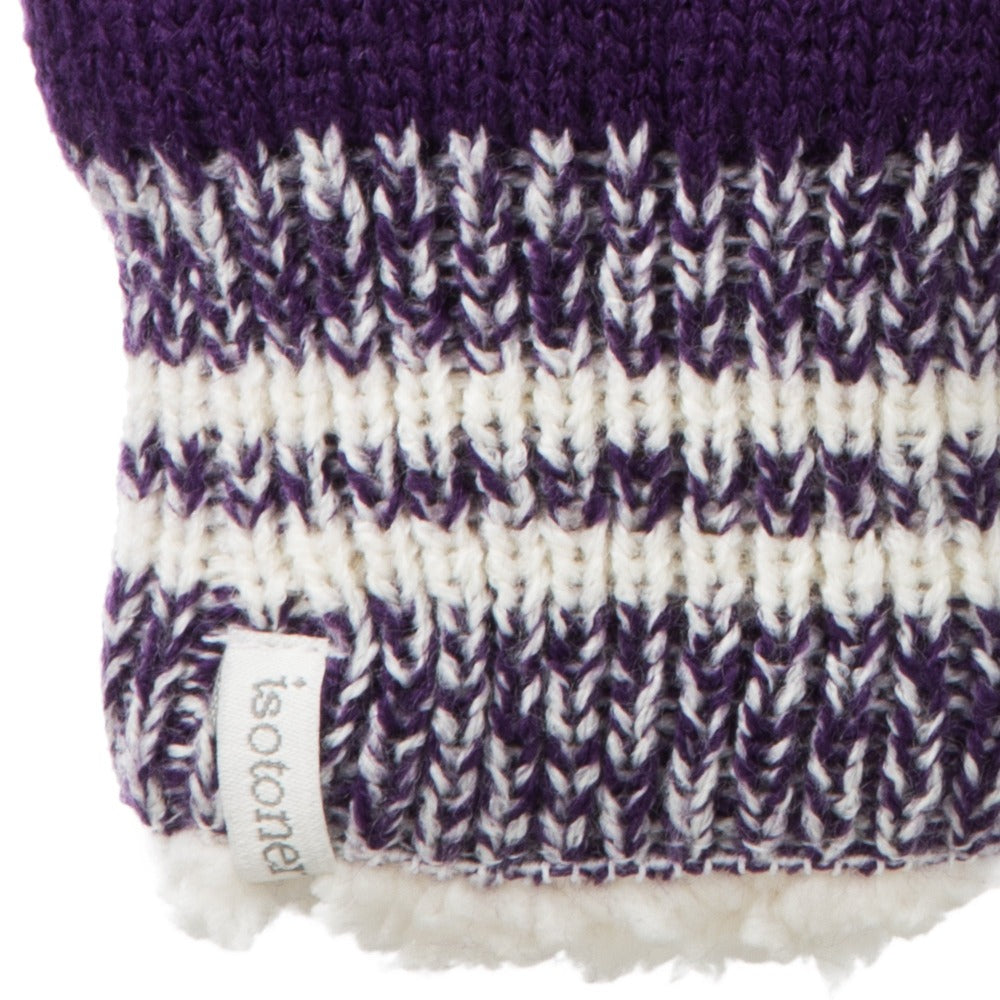 Women's Game Day Mittens Eggplant (Purple) Cuff Detail