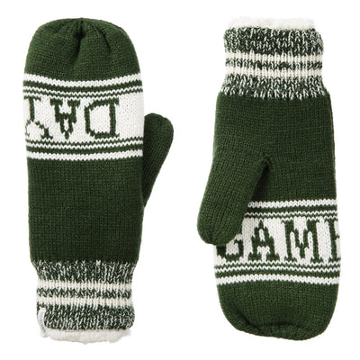 Women's Game Day Mittens Basil (Green) Front and Back