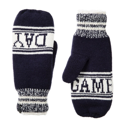 Women's Game Day Mittens Navy Blue Front and Back