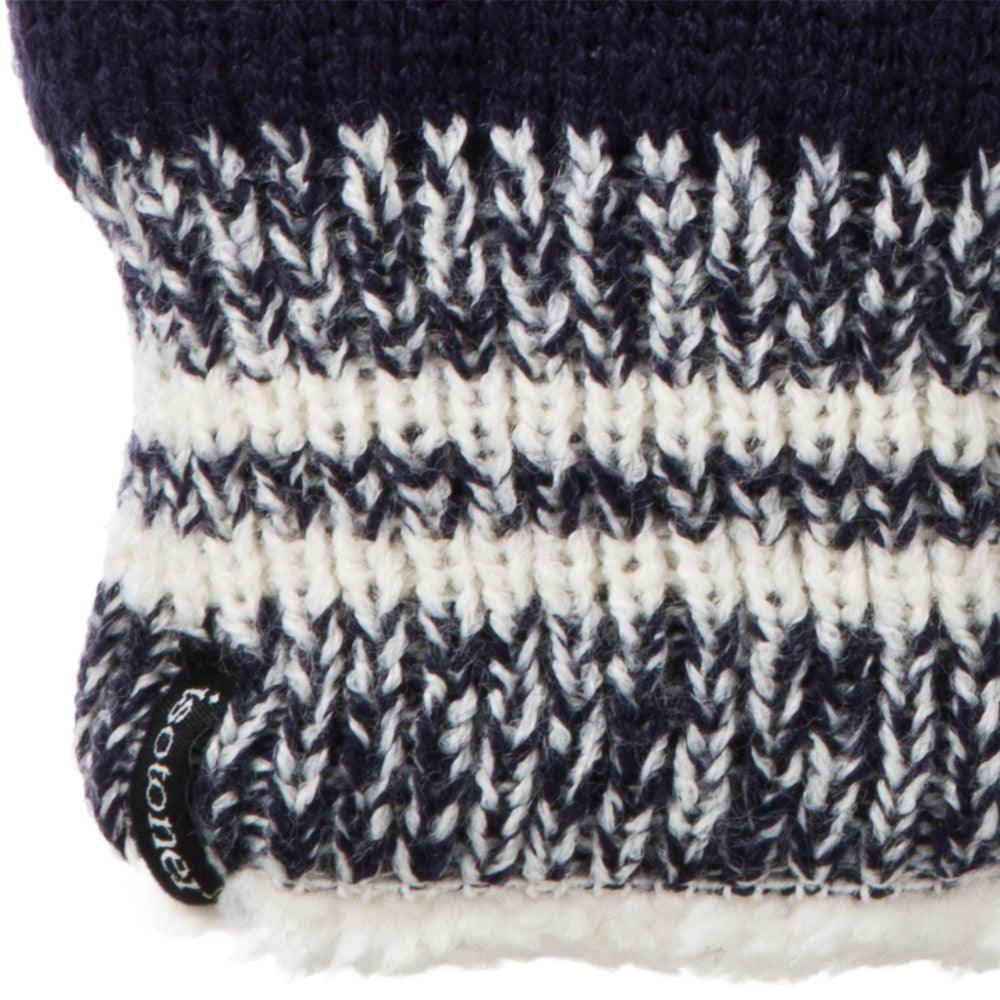 Women's Game Day Mittens Navy Blue Cuff Detail