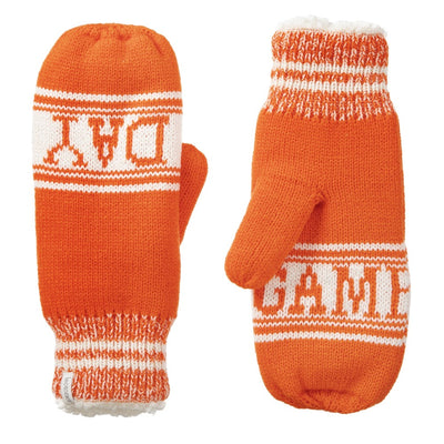 Women's Game Day Mittens Pumpkin (Orange) Front and Back