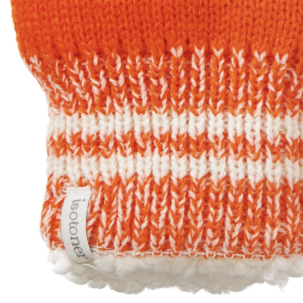 Women's Game Day Mittens Pumpkin (Orange) Cuff Detail