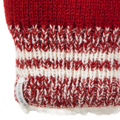 Women's Game Day Mittens Really Red Cuff Detail