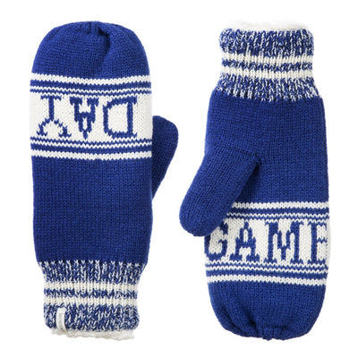 Women's Game Day Mittens Sapphire (Blue) Front and Back