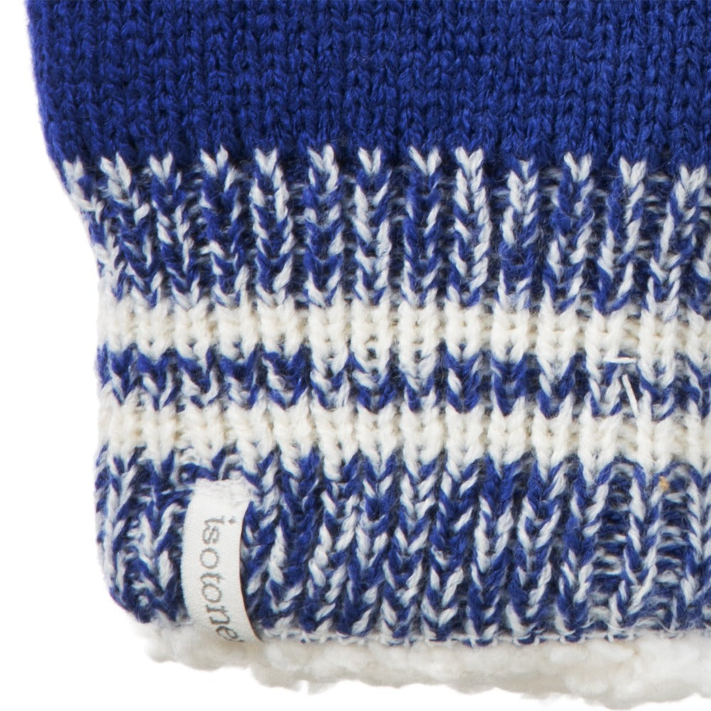 Women's Game Day Mittens Sapphire (Blue) Cuff Detail