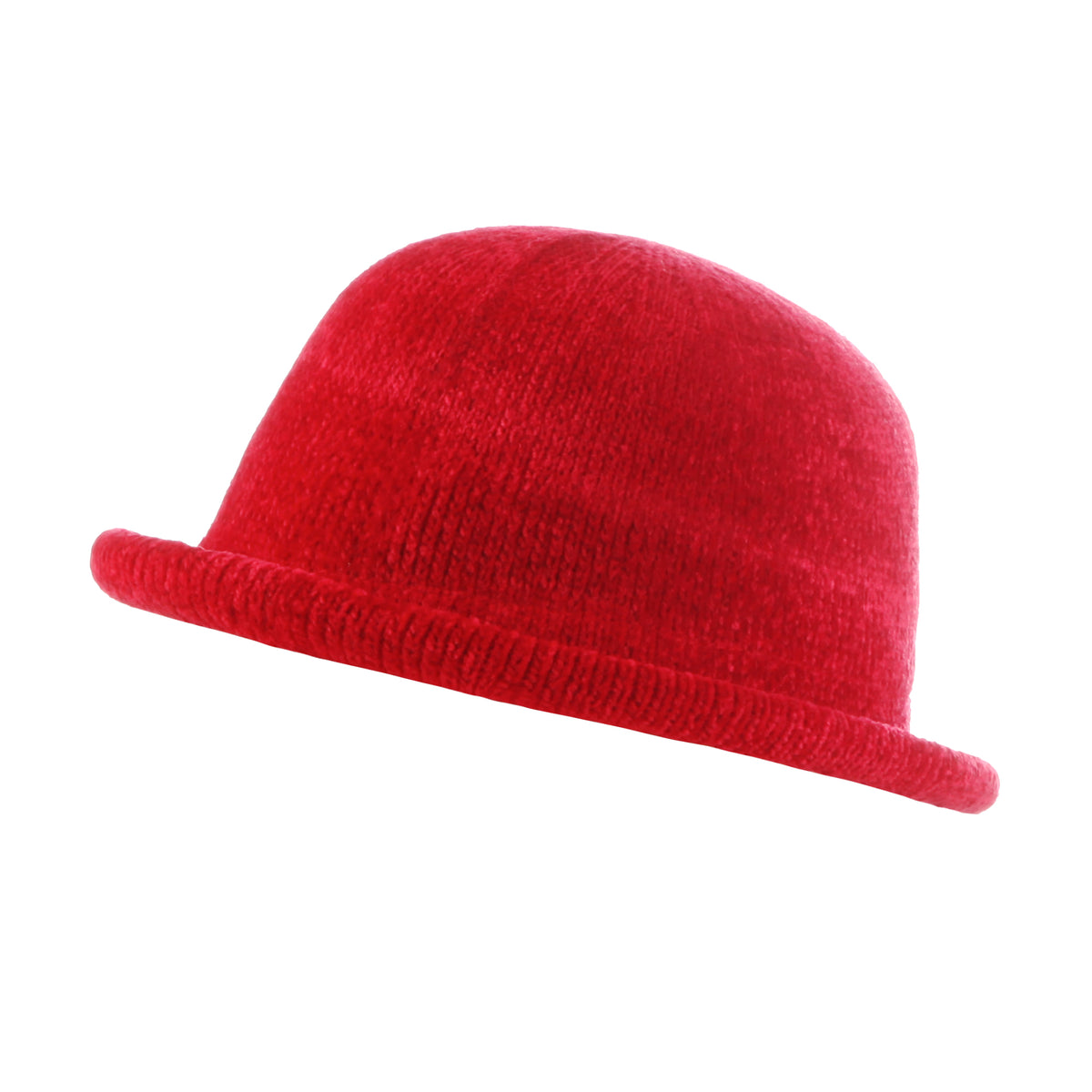 Women's Chenille Hat with Rolled Edge