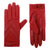 Women's Isotoner Chevron Shortie Gloves in red