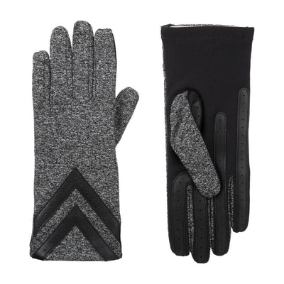 Women's Heritage Chevron Spandex Gloves pair in Black/Charcoal side by side