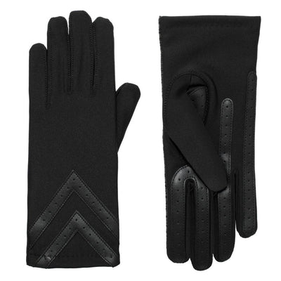 Women's Heritage Chevron Spandex Gloves pair in Black side by side