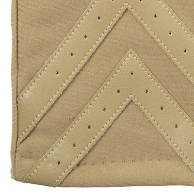 Women's Heritage Chevron Spandex Gloves in Camel light tan close up on chevron detail