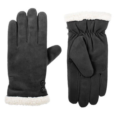 Women's Recycled Microsuede Gloves in Lead