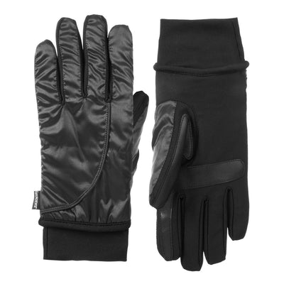 Women's Insulated Stretch Modern Gloves pair in Black side by side