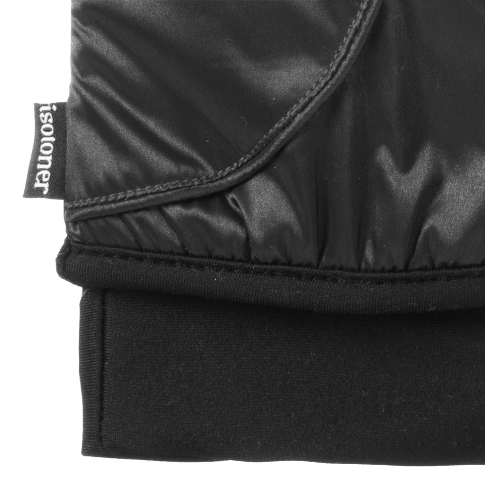 Women's Insulated Stretch Modern Gloves in Black close up on cuff