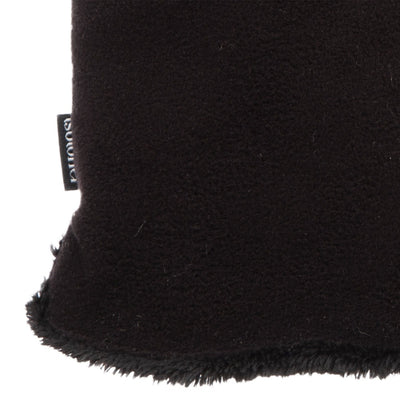 womens recycled stretch fleece glove close up in black