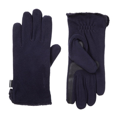 womens stretch fleece glove  in midnight